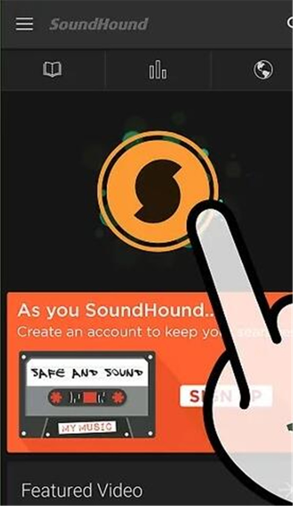 tap-rectangular-button-on-SoundHound-2