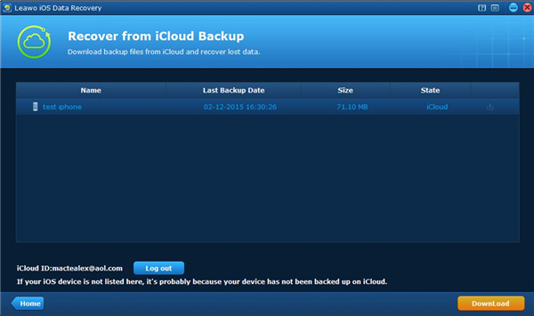 leawo-ios-data-recovery-download-icloud-backup-7