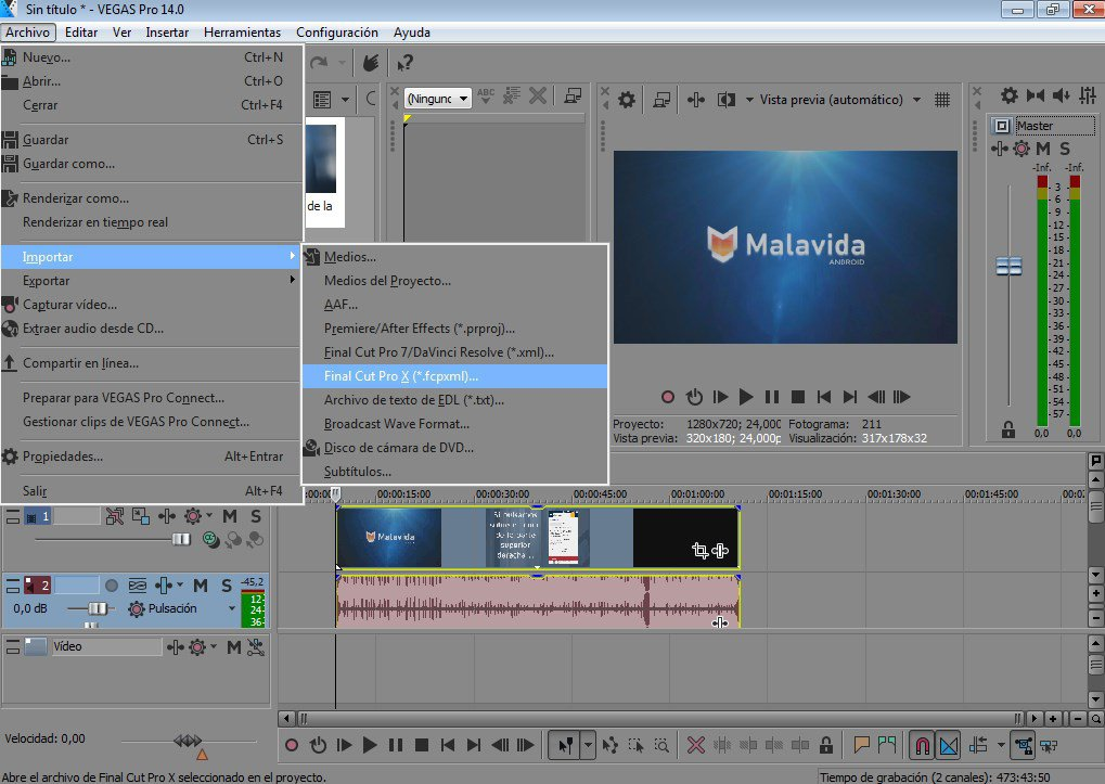 Sony Vegas Open FLV Files