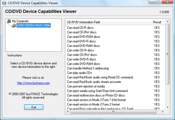 DVD-Device-Capabilities-Viewer