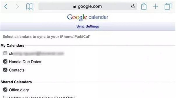 Log-in-Google-account-and-check-calendars-to-sync-with-iPad-7