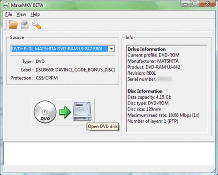MakeMKV-load-source-DVD