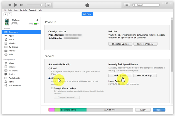 Use-iTunes-to-Backup-Your-iPhone-8