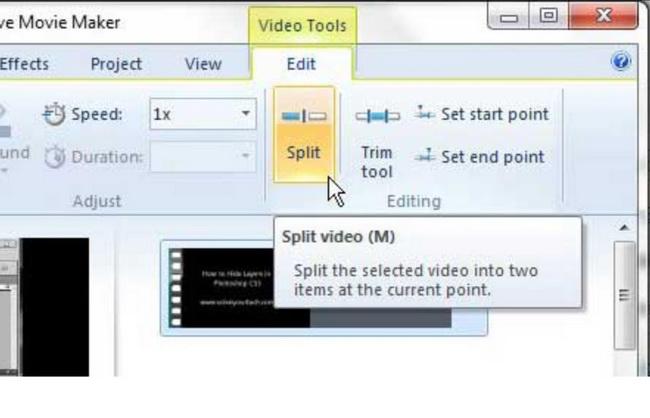 how-to-split-video-in-Windows-Movie-Maker 2