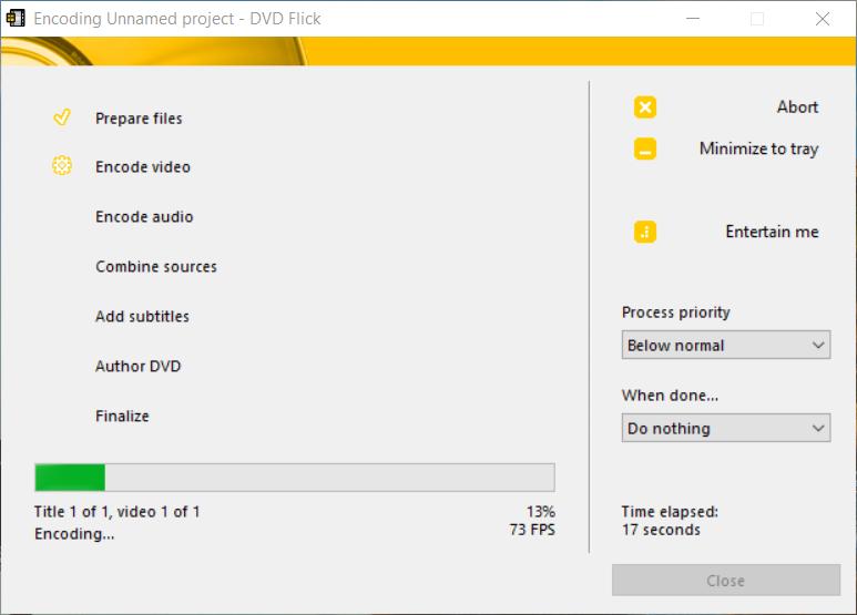 DVDFlick-burning