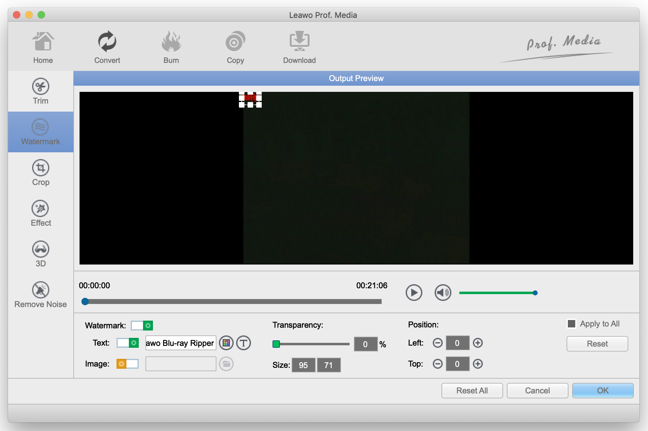Leawo-personalizing-the-video