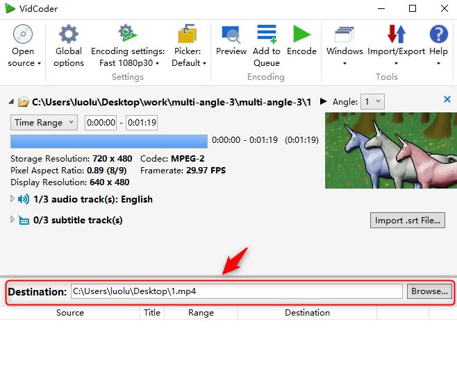 Vidcoder-file-destination