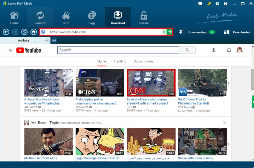 download-youtube-leawo-URL