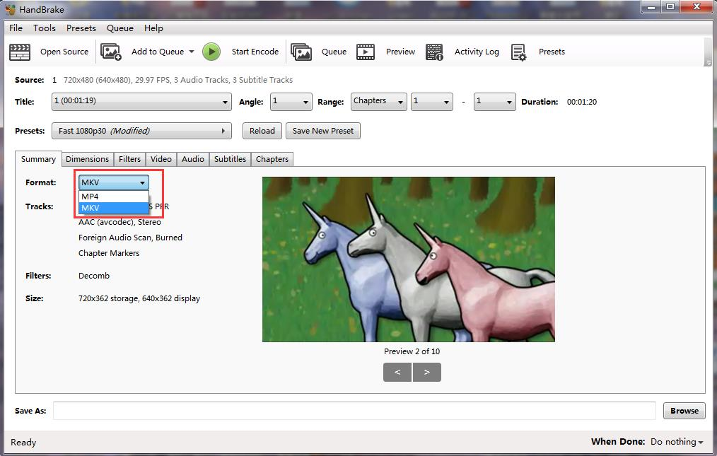 handbrake-set-MKV-as-output-format
