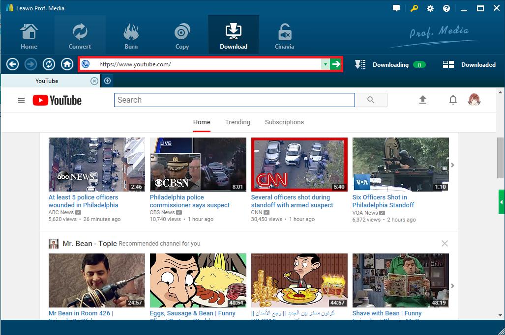 leawo-downloader-video-url
