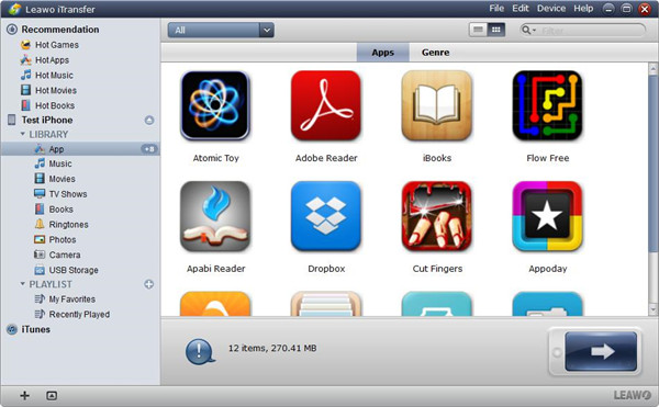 run-Leawo-iTransfer-and-your-iPhone-library-will-be-shown-in-the-leftside-13