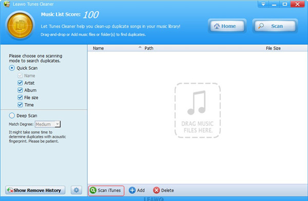 tunes-cleaner-scan-itunes-12