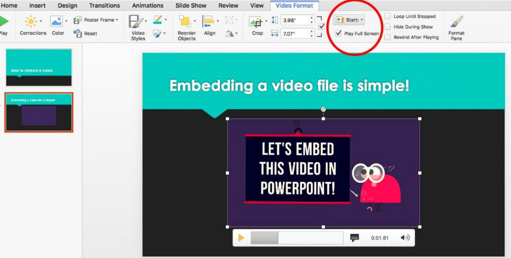 Embed a Video in PowerPoint-3