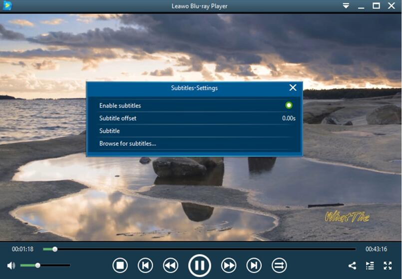how-to-import-and-add-subtitle-on-leawo-bluray-player 02