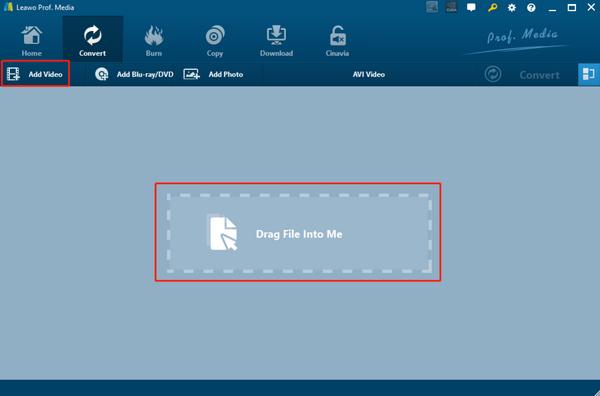 play-aac-on-windows-media-player-leawo-video-converter-import