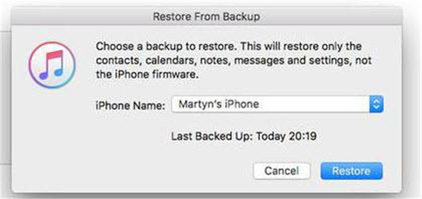Restore your message from old iPhone to new iPhone