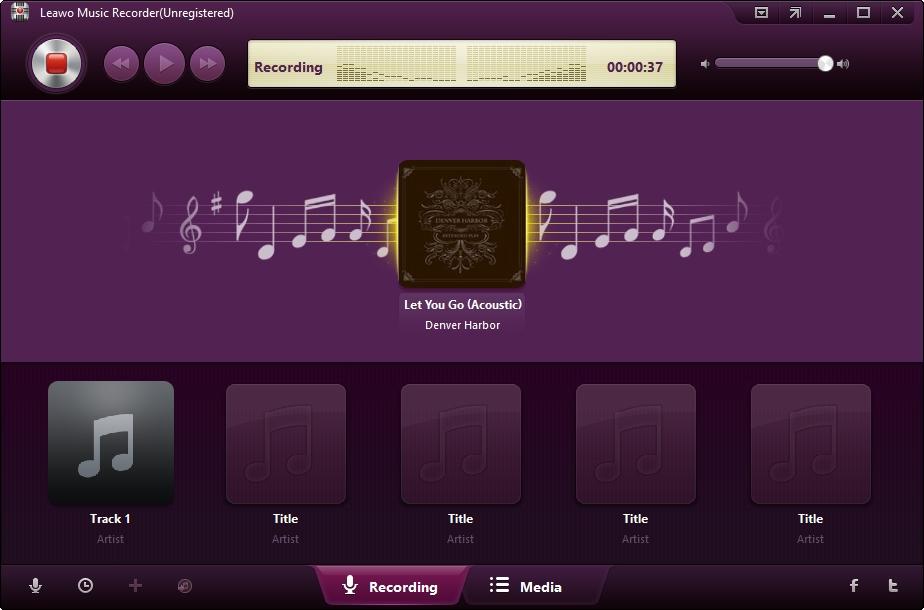 Leawo music recorder recording