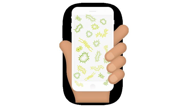 bacteria-on-phone