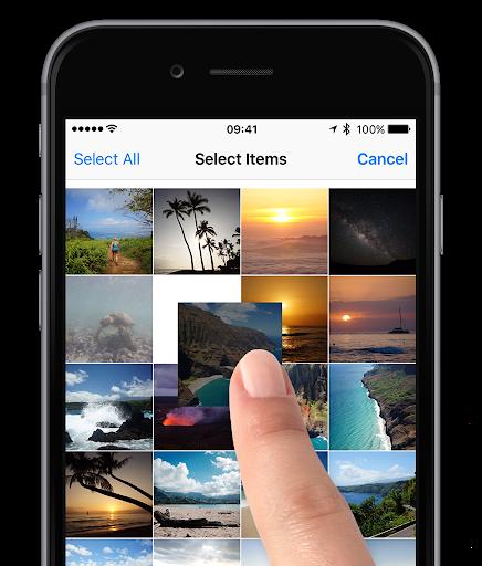 rearrange photos on iphone