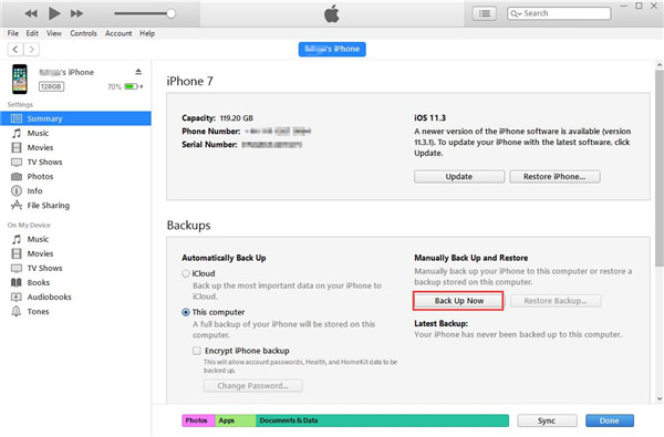 backup-iMessages-with-iTunes