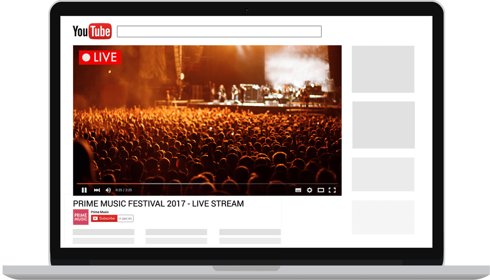 YouTube-Live-on-a-browser