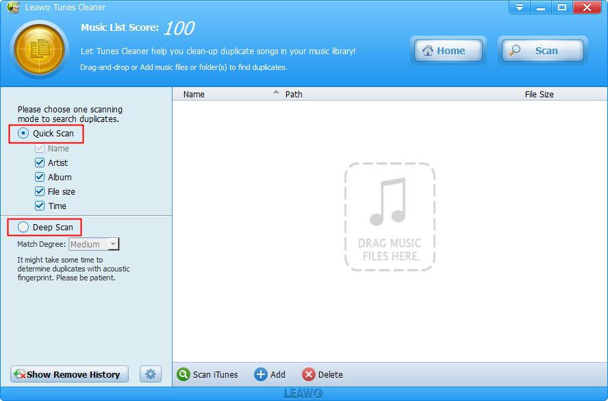 how-to-use-Leawo-Tunes-Cleaner-to-delete-duplicate 01