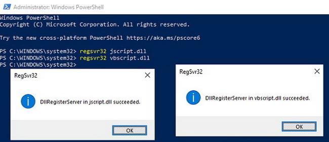 Register-jscript-dll-and-vbscript-dll