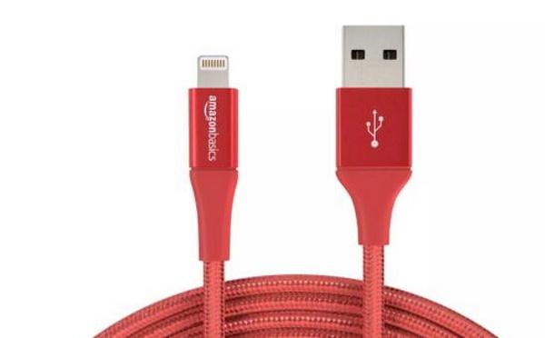 AmazonBasics DoubleBraided Nylon USB-A to Lightning Cable-01