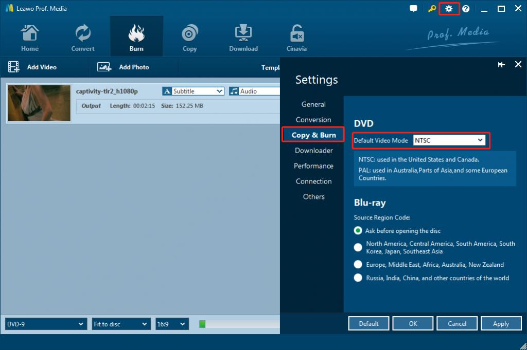 leawo-dvd-creator-settings