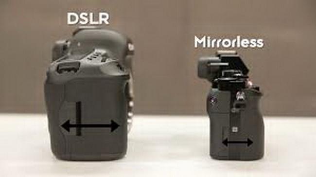 mirrorless vs. dslr size