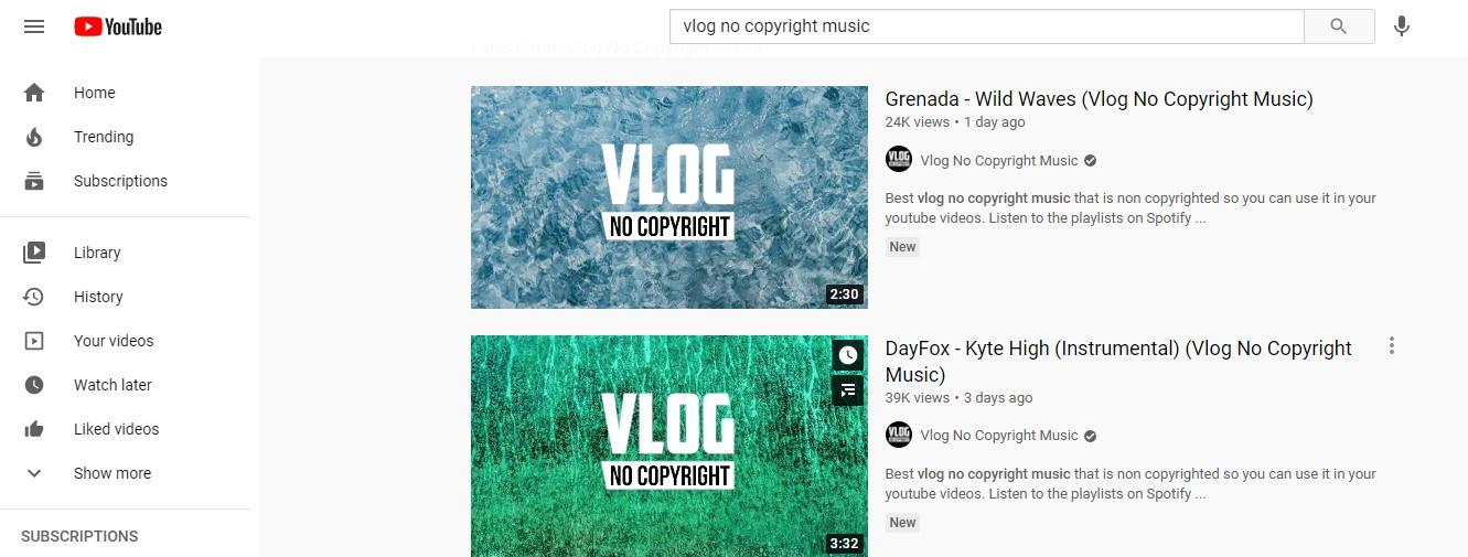 Get-vlog-no-copyright-music-youtube