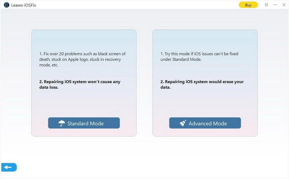 Leawo-iOSFix-choose-a-repair-mode-8