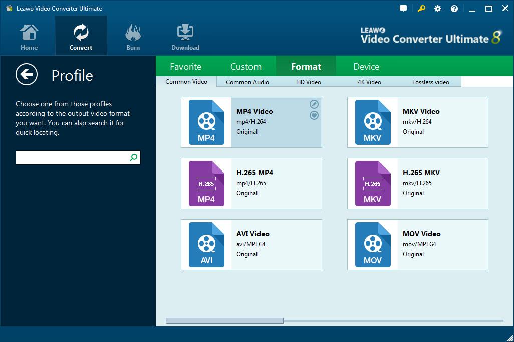 leawo-video-converter-ultimate-interface