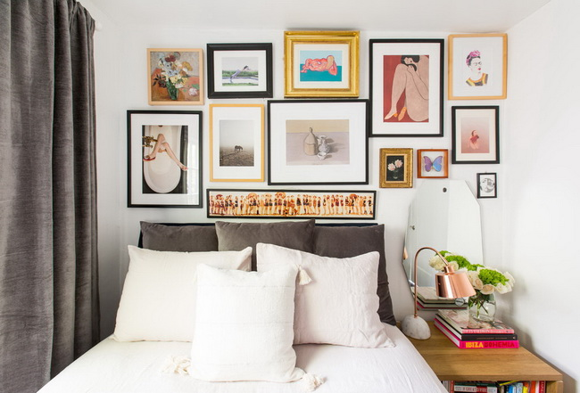 How-to-Make-a-photo-Wall-In-the-Bedroom