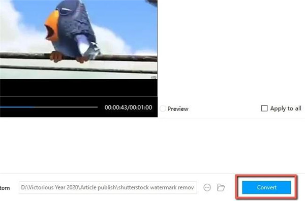 Remove-watermark-from-video-on-PC-with-Apowersoft-click-Convert-button