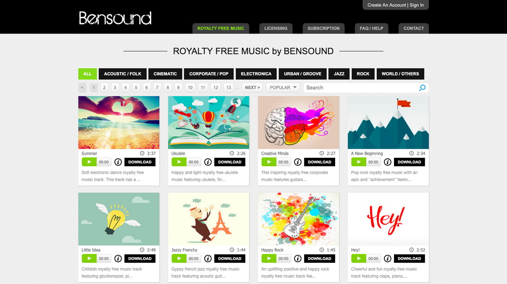 copyright-free-music-for-youtube-websites-Bensound-9