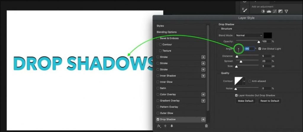 Add-drop-shadow-to-image-in-Photoshop-1