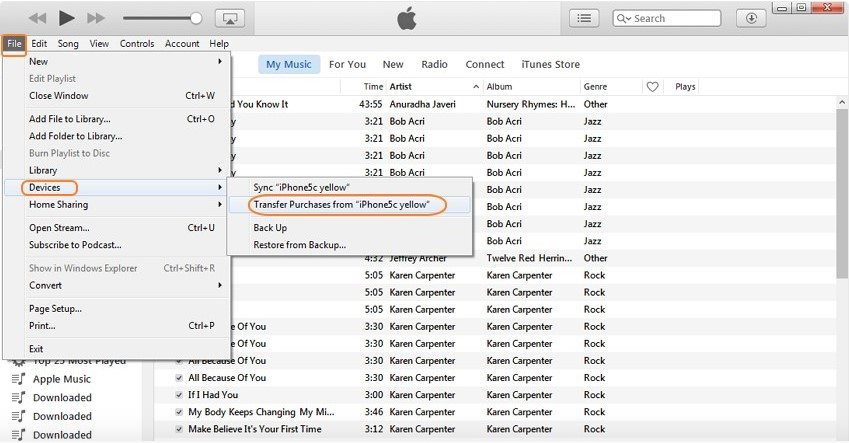 transfer-purchased-music-from-ipod-to-itunes-library