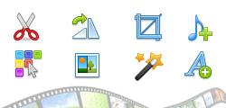 Built-in video editor