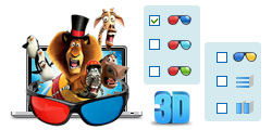 Convert common 2D DVD to 3D video