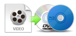Burn any video to Blu-ray/DVD disc