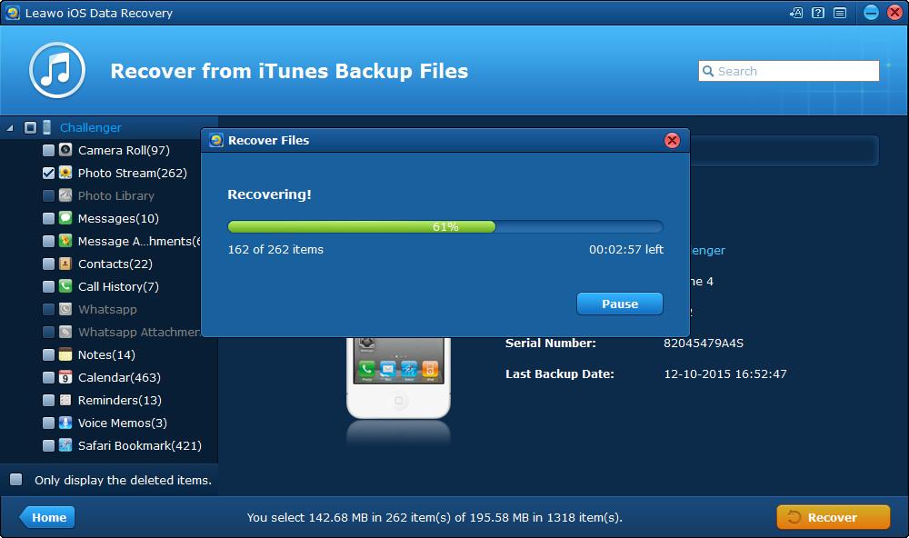 Leawo iOS Data Recovery – Best iPod/iPad/iPhone data