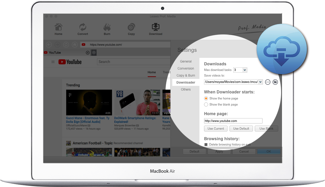 Leawo HD Youtube Video Downloader for Mac - Download YouTube