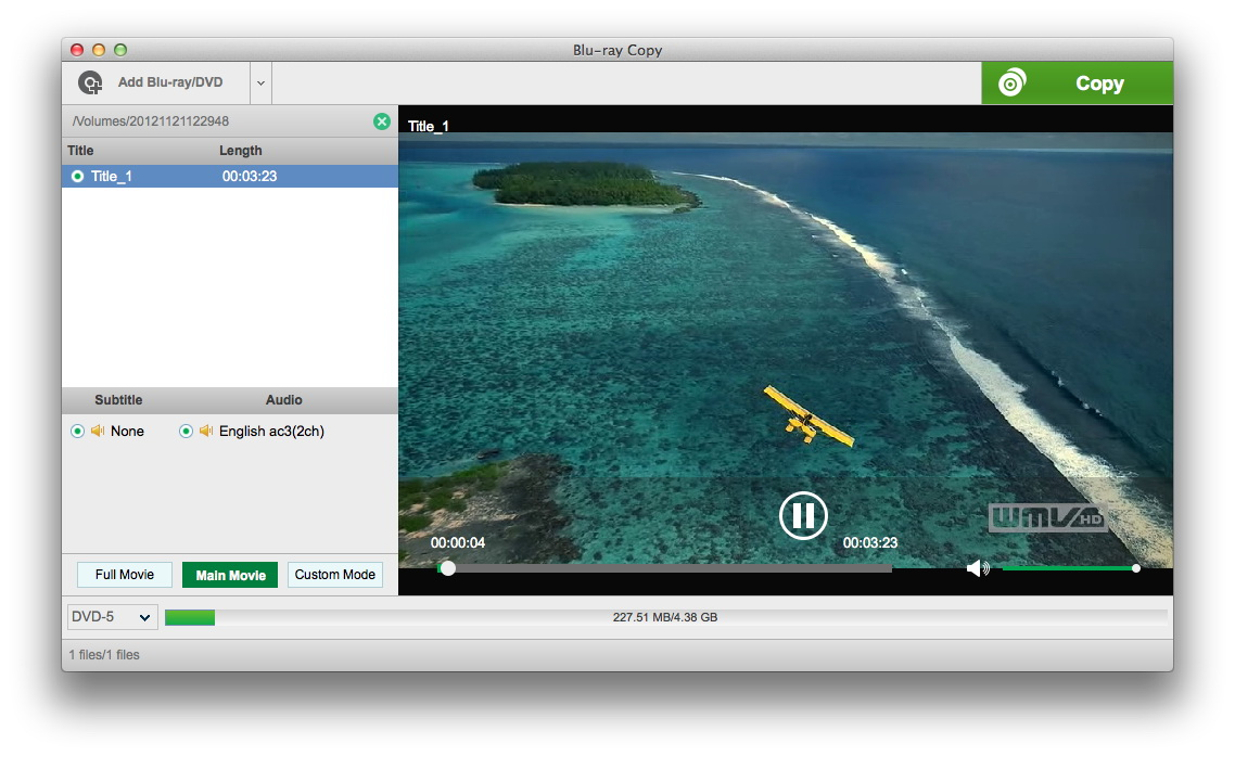 Steps to Copy DVD/ Blu-ray to ISO File on Mac OS X