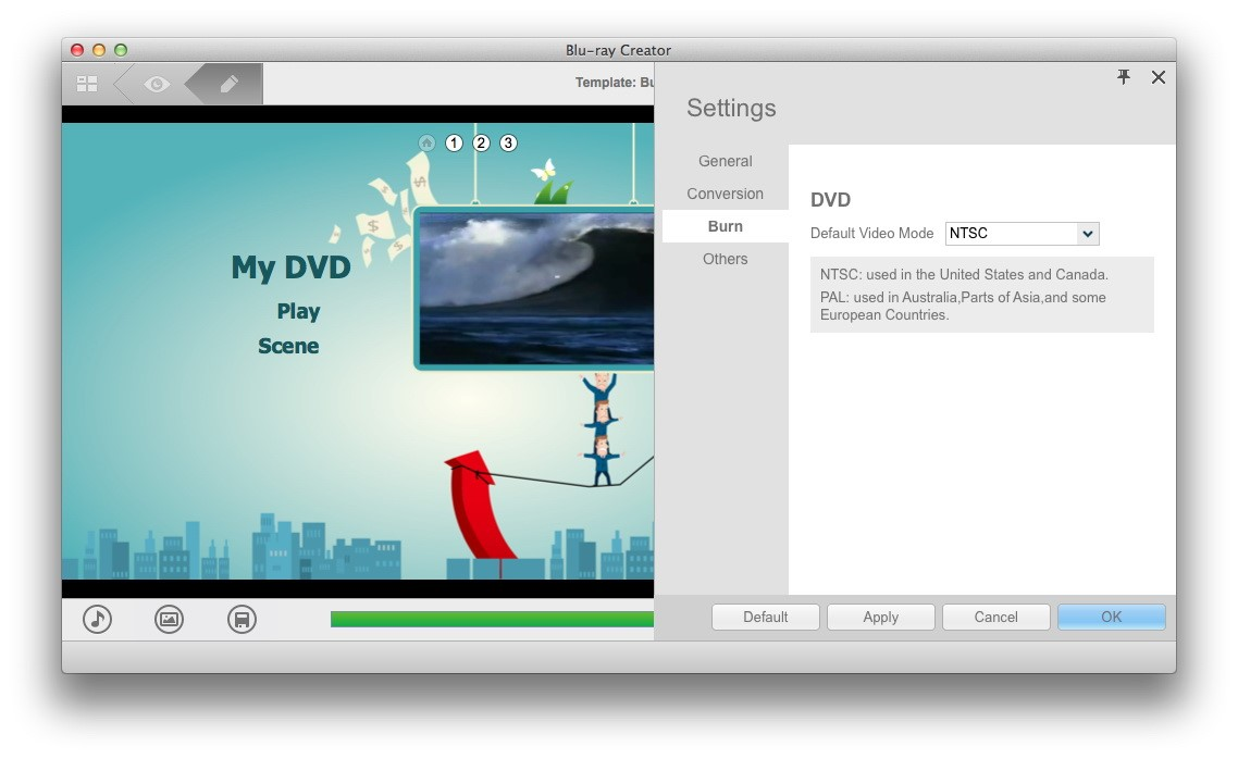 Burn video to DVD on Mac