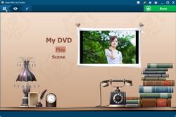 Set disc menu for photo slideshow