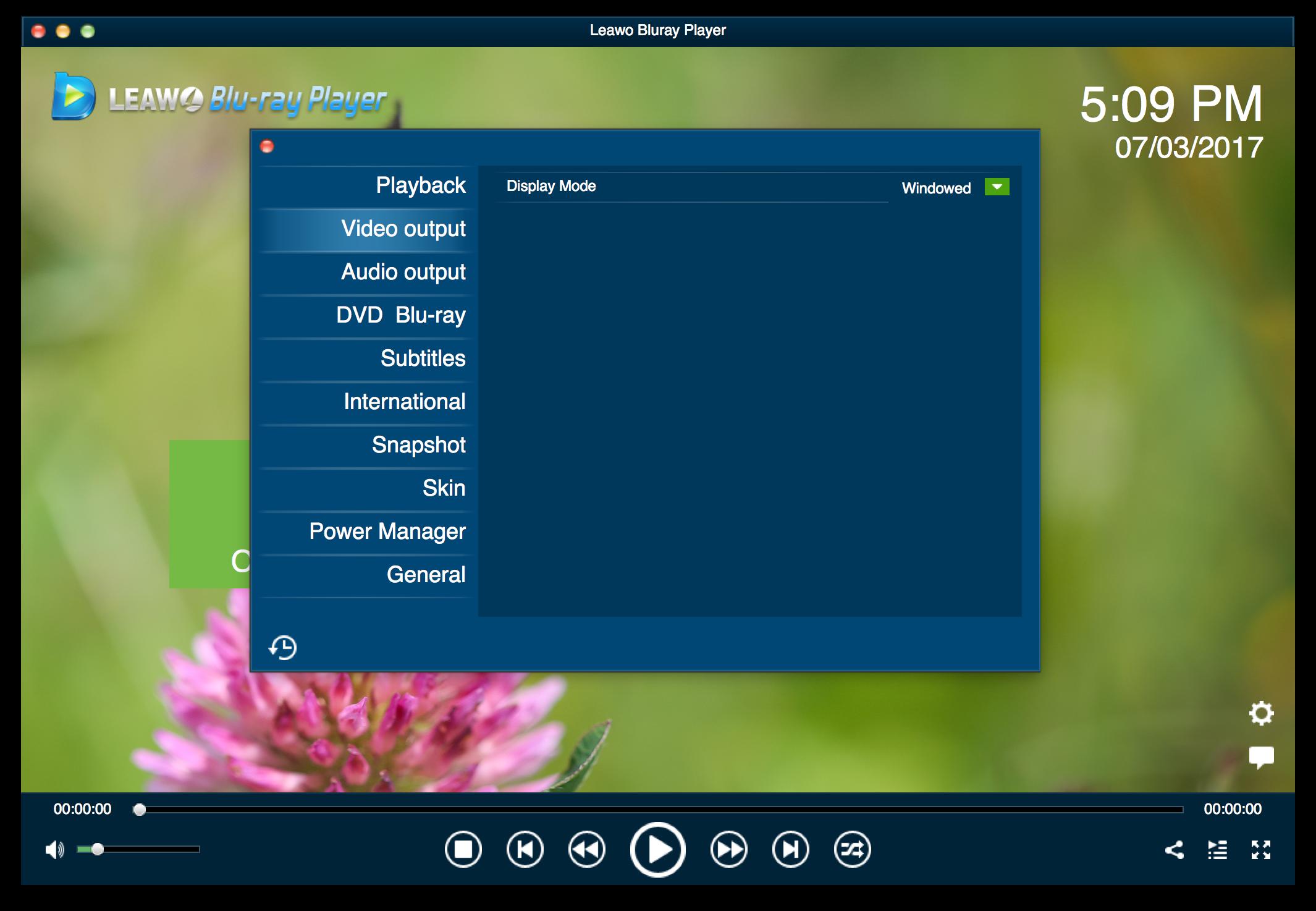 How to Set Leawo Free Blu-ray Player for Mac