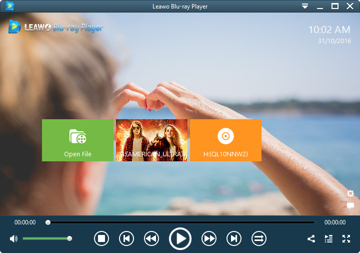Leawo Blu-ray Player screen