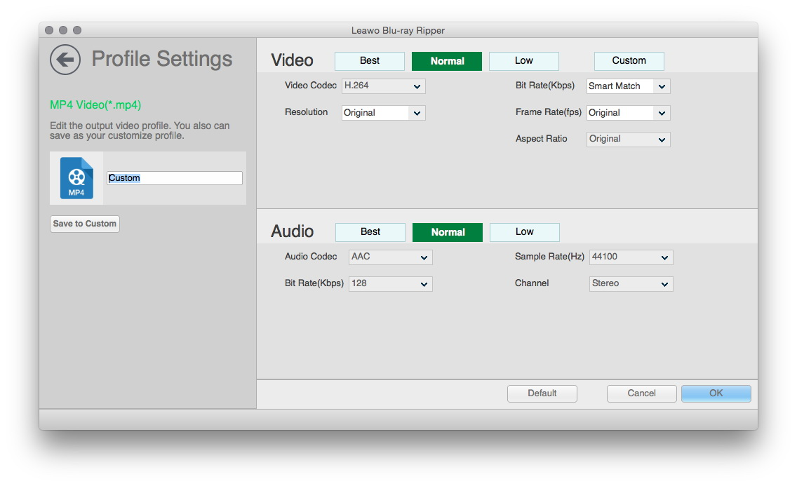 Advanced Video and Audio Settings