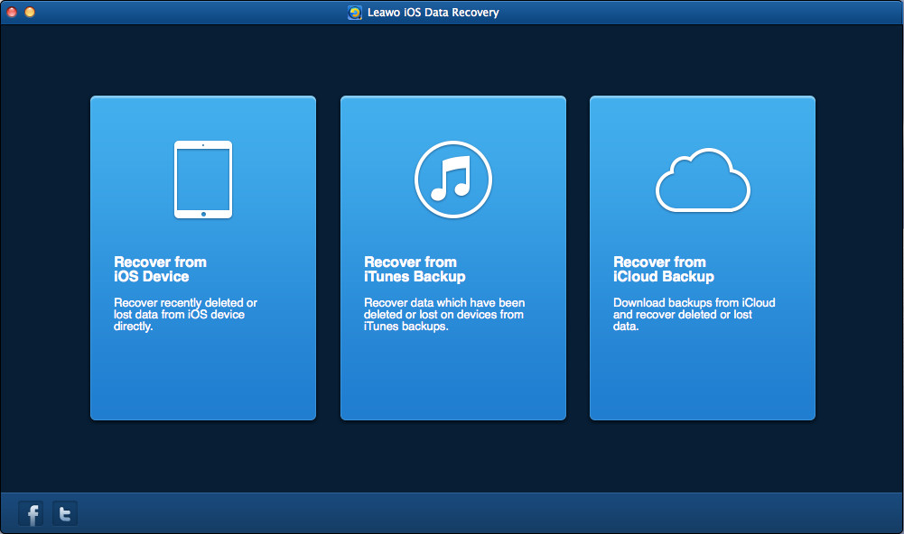 Choose Recover from iCloud